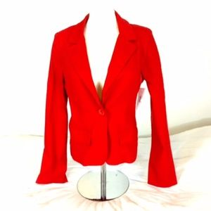 Red Blazer M XOXO